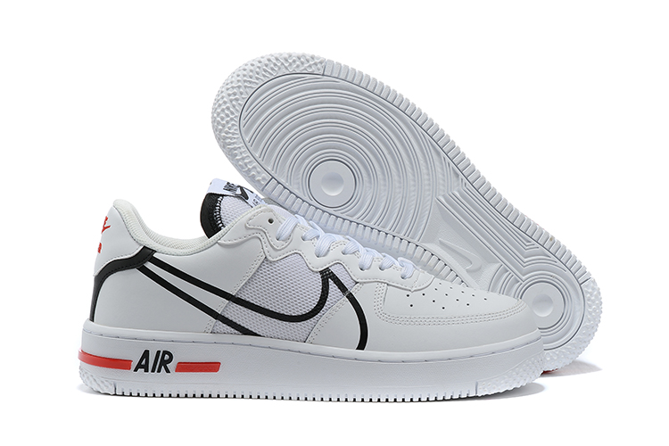 Men's Air Force 1 React White Shoes 010