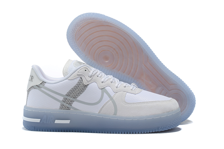 Men's Air Force 1 React White Shoes 015