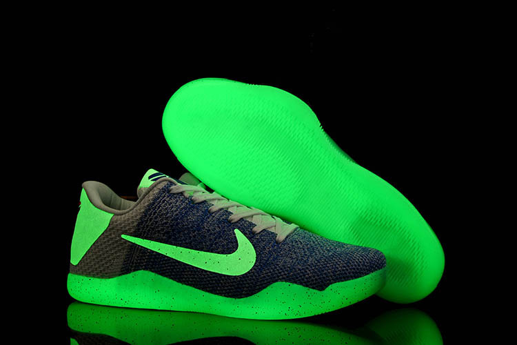 Running weapon Wholesale Nike Kobe Bryant 11 Knitted Shoes Men Noctilucence
