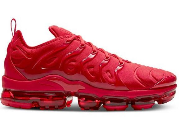 Women's Air VaporMax Plus Triple Red Shoes 005
