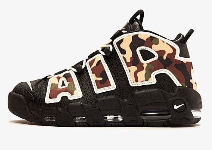 Women's Air Uptempo Camo Shoes 007